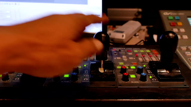 video mixing console - fade out video transition stock videos & royalty-free footage