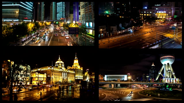 video-montage in shanghai, china - montage composite technik stock-videos und b-roll-filmmaterial