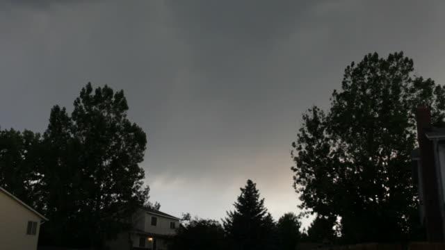 hd video multiple lightning strikes over denver homes - lightning strike stock videos and b-roll footage