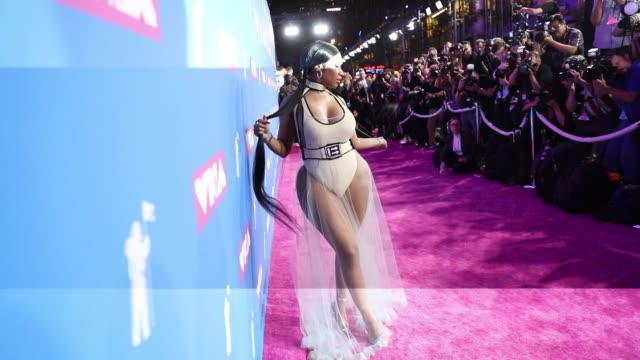 video music awards - alternative views at radio city music hall on august 20, 2018 in new york city. - mtv video music awards stock-videos und b-roll-filmmaterial