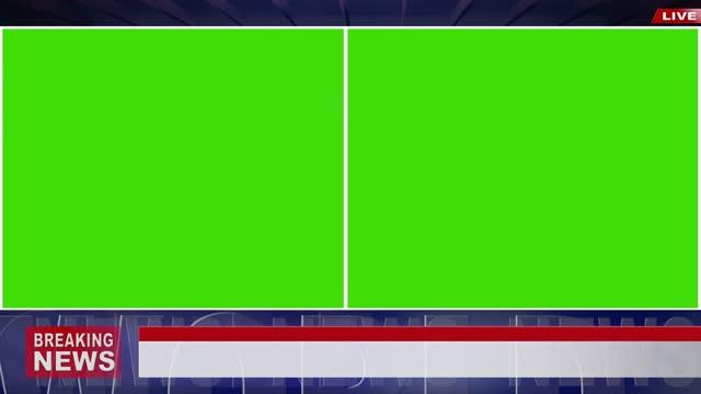 vídeos de stock, filmes e b-roll de vídeo 4k: estúdio de transmissão de notícias com tela verde para uso de mockup - modelo web