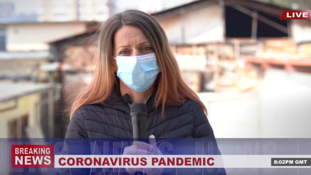 4k video: newscaster presenting the breaking news, during covid-19 pandemic - the media stock videos & royalty-free footage