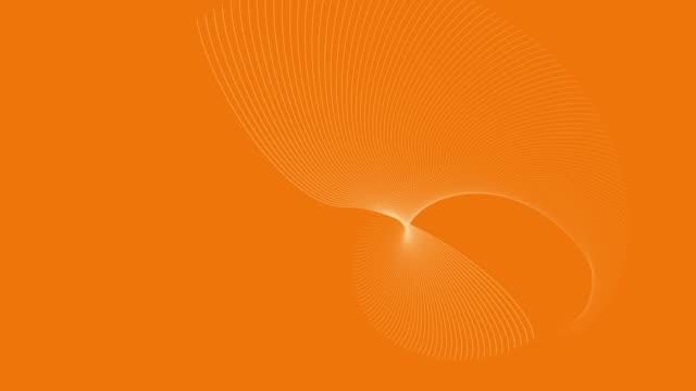 vídeos y material grabado en eventos de stock de vídeo 4k de una renderización 3d, que representa la energía solar sobre un fondo naranja, con ondas abstractas blancas en movimiento. - huella de carbono