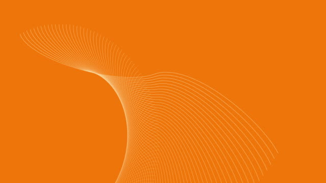 4k video of a 3d render, which depicts solar energy on an orange background, with white abstract waves in motion. - orange colour background stock videos & royalty-free footage