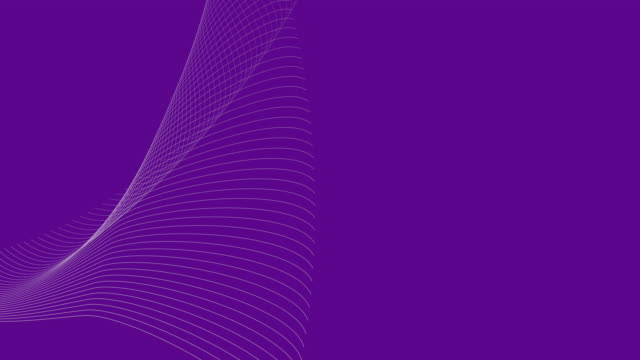 4k video of a 3d render with white abstract waves, on a purple background which depicts energy and creativity. - smooth stock videos & royalty-free footage