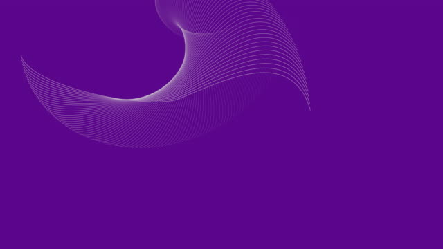4k video of a 3d render with white abstract waves, on a purple background which depicts energy and creativity. - persuasion stock videos & royalty-free footage