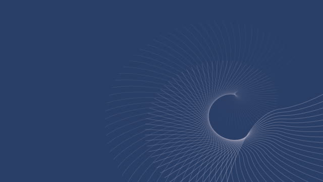 4k video of a business 3d render, with white abstract waves on blue background, depicting different fluctuations. - chance stock videos & royalty-free footage