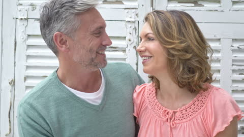 video of a happy mature caucasian couple at home - white hair stock videos & royalty-free footage