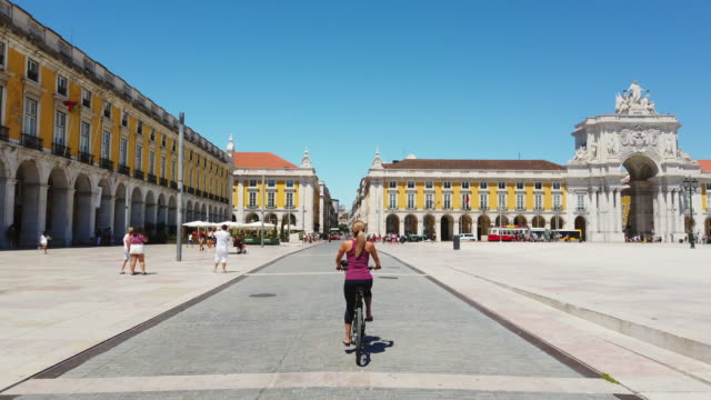 video of a woman visiting lisbon. - escaping stock videos & royalty-free footage