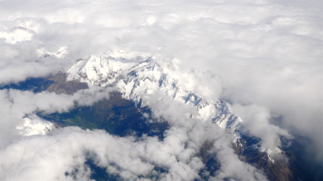 Video of aerial shot on Alps moutains