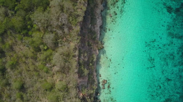 4K Video of Aerial View of Caribbean Sea in Curacao