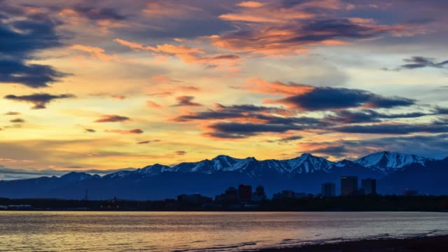 video of anchorage at sunrise - anchorage alaska stock videos & royalty-free footage