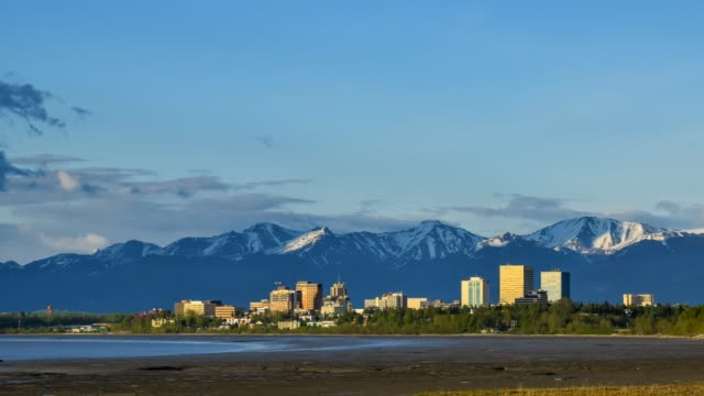 video of anchorage at sunset - anchorage alaska stock videos & royalty-free footage
