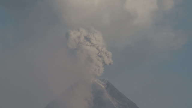 t/l video of ash exploding during volcanic eruption, philippines, dec 2009 - philippines stock videos & royalty-free footage
