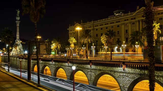 Video of Barceloneta neighborhood at night