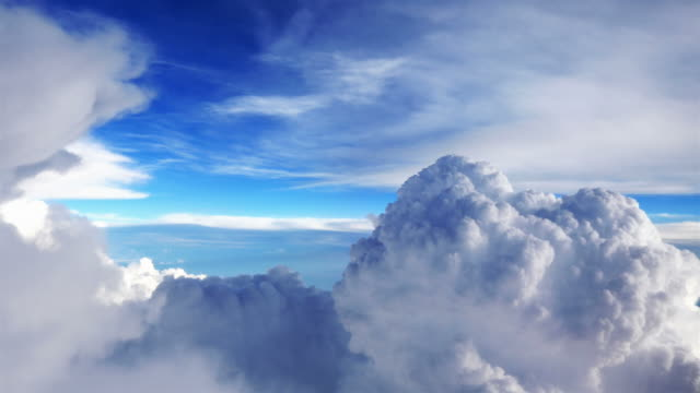 video of beautiful clouds in 4k - commercial aircraft stock videos & royalty-free footage
