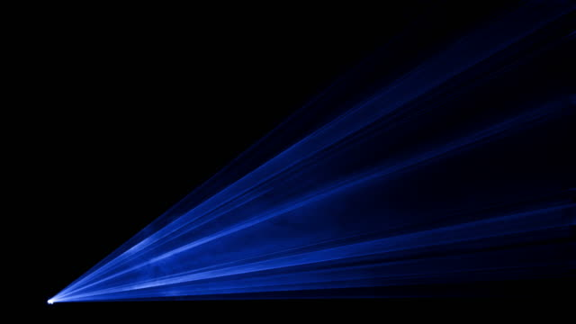 Video of blue laser show in 4K