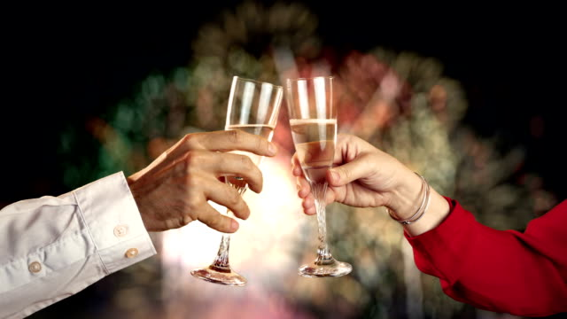 video of celebration time - champagne flute stock videos & royalty-free footage