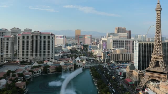 4k video of cityscape las vegas skyline at day time - day stock videos & royalty-free footage