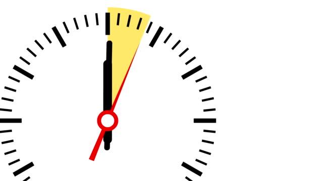 Video of clock highlighting 15 seconds