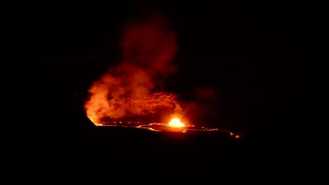 video of fire erupting volcanoes national park hawaii - sulphur stock videos & royalty-free footage