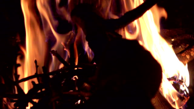 Video of fireplace in real slow motion