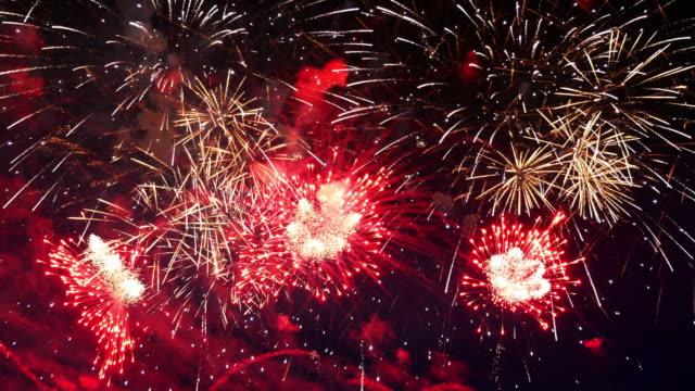 video of fireworks in 4k - fiesta background stock videos & royalty-free footage
