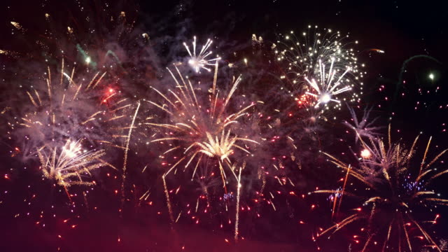 Video of fireworks in 4K