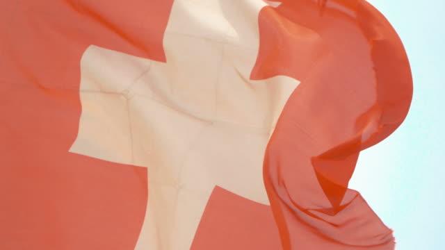 Video of flag of Switzerland in 4K