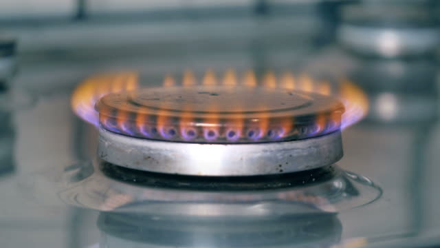 video of gas stove in 4k - domestic kitchen stock videos & royalty-free footage