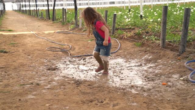 hd video of girl enjoying in flower greenhouse - 2 3 years stock videos & royalty-free footage