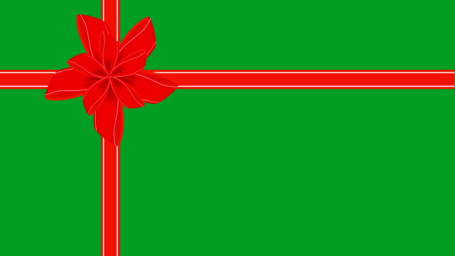 video of green gift card with red ribbon - tied bow stock videos & royalty-free footage