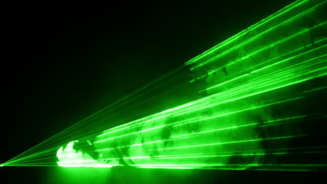 Video of green laser show in 4K