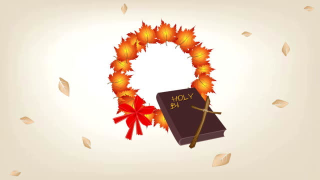 video of holy bible with christmas wreath of maple - nuovo testamento video stock e b–roll