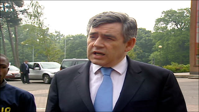 video of kidnapped bbc journalist alan johnston released gordon brown comments gordon brown mp speaking to to press sot our thoughts are with him and... - 不公平点の映像素材/bロール