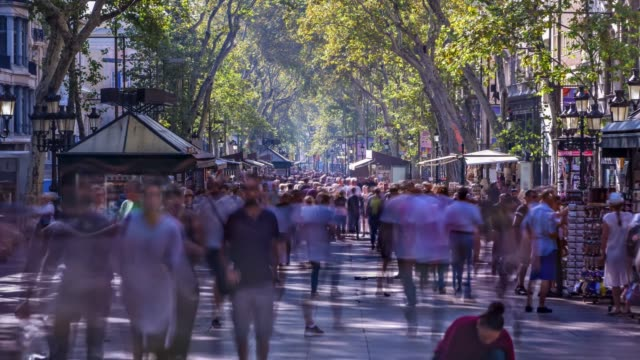 video of la rambla street - large stock videos & royalty-free footage