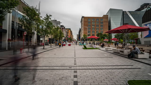 video of montreal downtown. - day stock videos & royalty-free footage