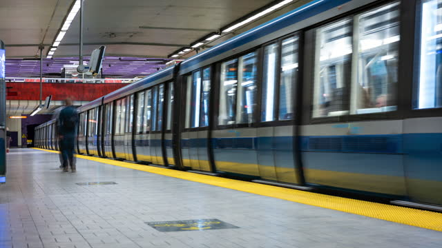 video of montreal subway. - public transport stock videos & royalty-free footage