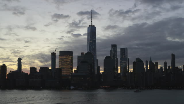 4K Video of New York City Lower Manhattan at Sunrise
