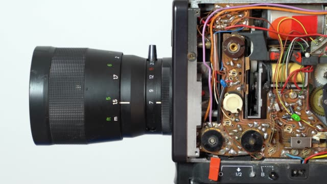 UHD Video Of Old Fashioned Electronic Video Camera Circuit Board