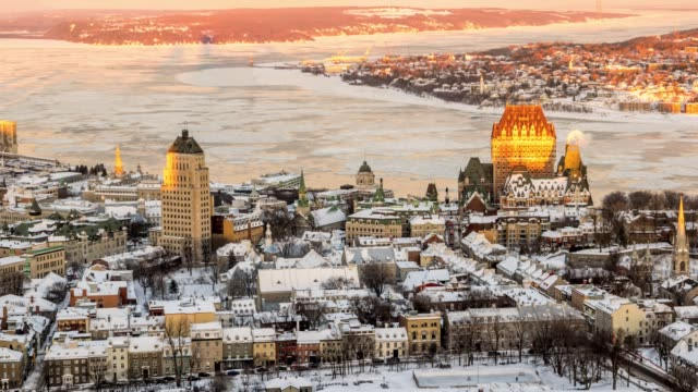 Video of old Quebec city.