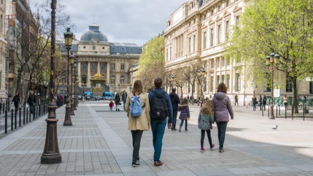 vidéos et rushes de vidéo de paris-palais de justice - monument