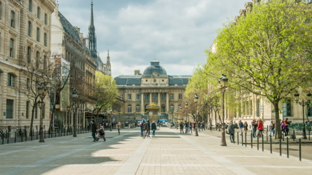 video of paris - palais de justice - street stock videos & royalty-free footage