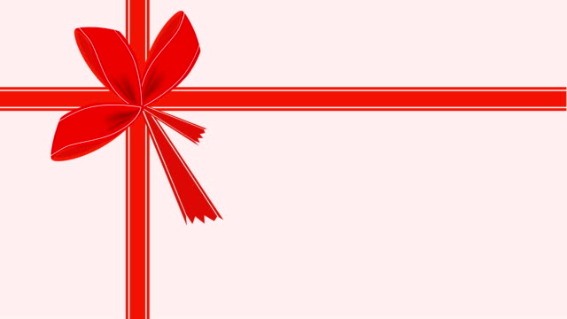 video of pink gift card with red ribbon - cards stock videos & royalty-free footage