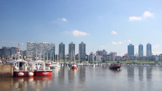 Video (tilt shift lens) of Puertito del Buceo, Montevideo, Uruguay