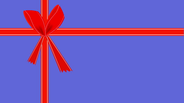 video of purple gift card with red ribbon - ribbon bow stock videos & royalty-free footage