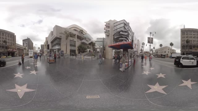 VR video of LA's Walk of Fame
