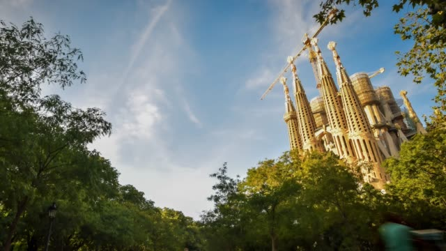 video of sagrada familia - cathedral stock videos & royalty-free footage