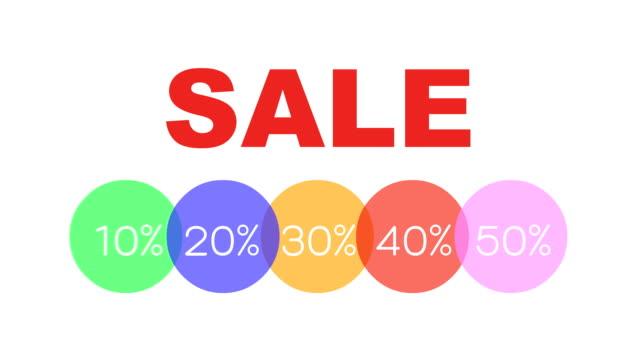 割合で販売広告のビデオ割引ラベル - セール点の映像素材/bロール