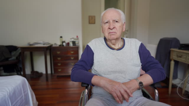 video of senior man paraplegic - paraplegic stock videos & royalty-free footage